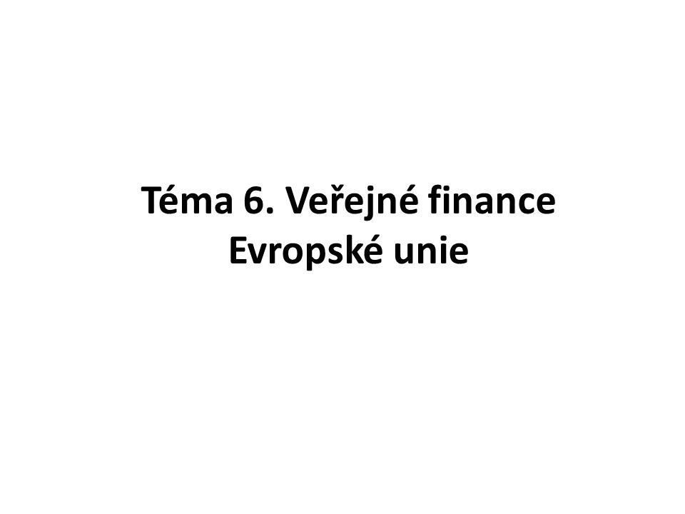 Téma 6. Veřejné finance Evropské unie
