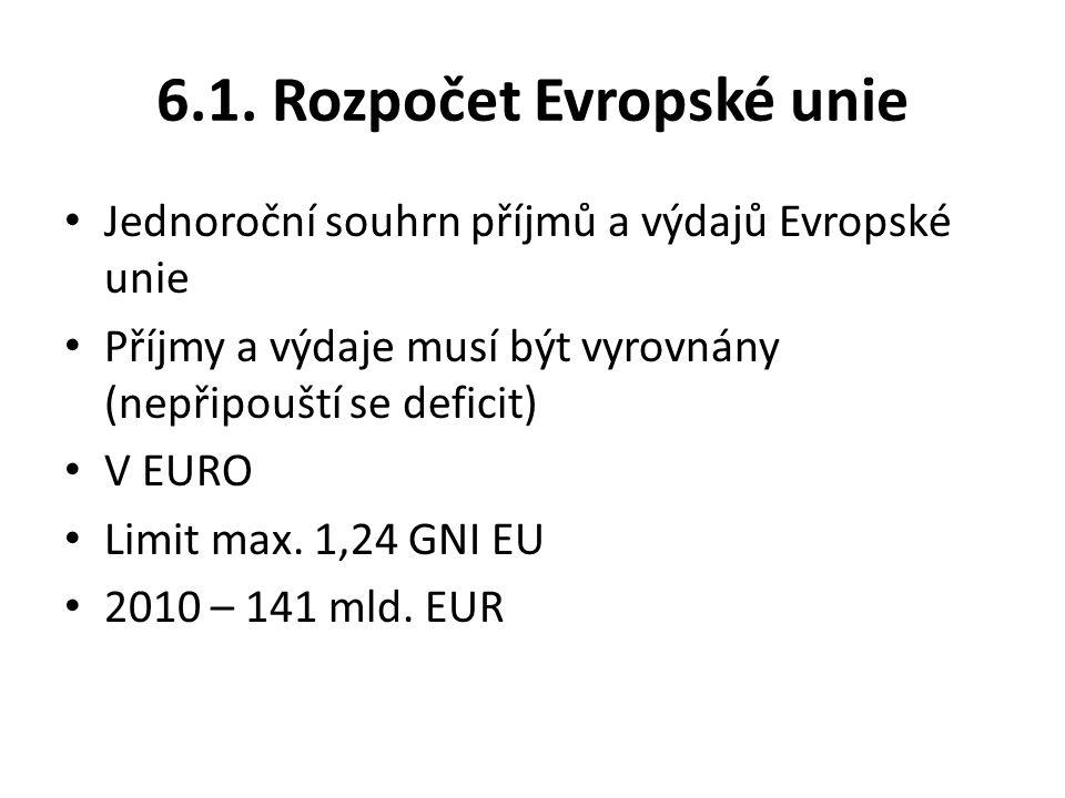 6.1. Rozpočet Evropské unie