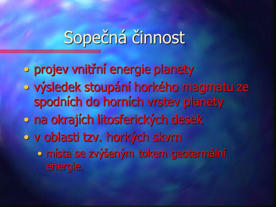 Sopečná činnost projev vnitřní energie planety