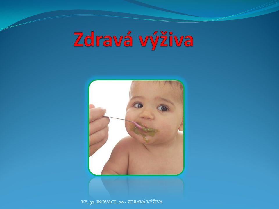 Zdravá výživa VY_32_INOVACE_20 - ZDRAVÁ VÝŽIVA