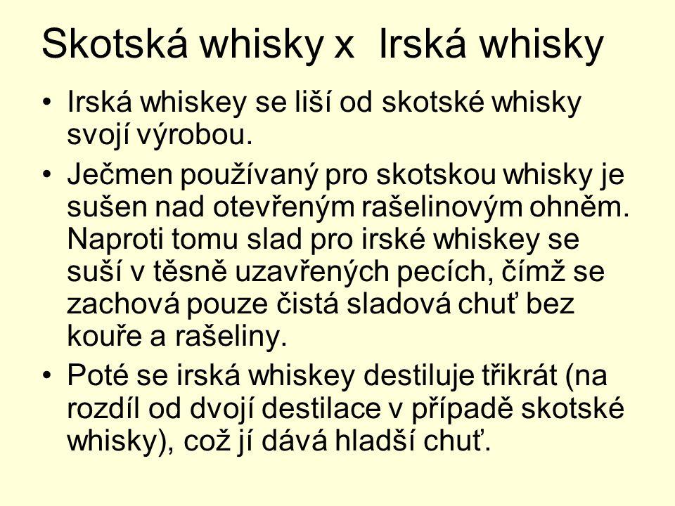 Skotská whisky x Irská whisky