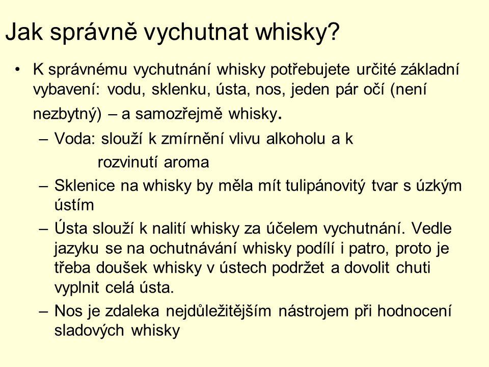 Jak správně vychutnat whisky