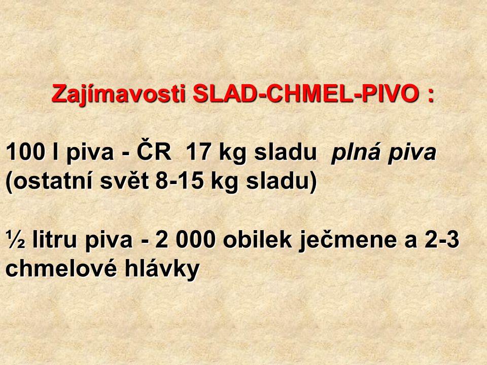 Zajímavosti SLAD-CHMEL-PIVO :
