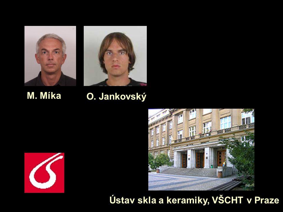 M. Míka O. Jankovský Ústav skla a keramiky, VŠCHT v Praze