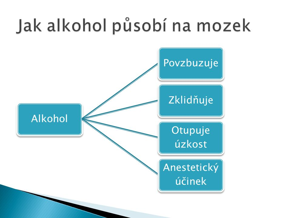 Jak alkohol působí na mozek