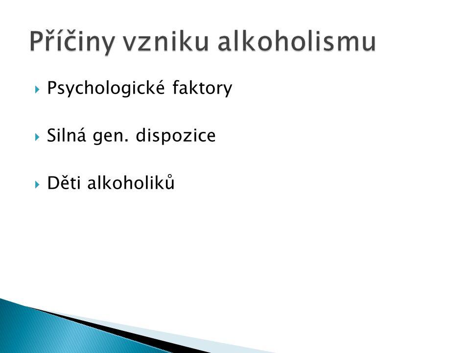 Příčiny vzniku alkoholismu