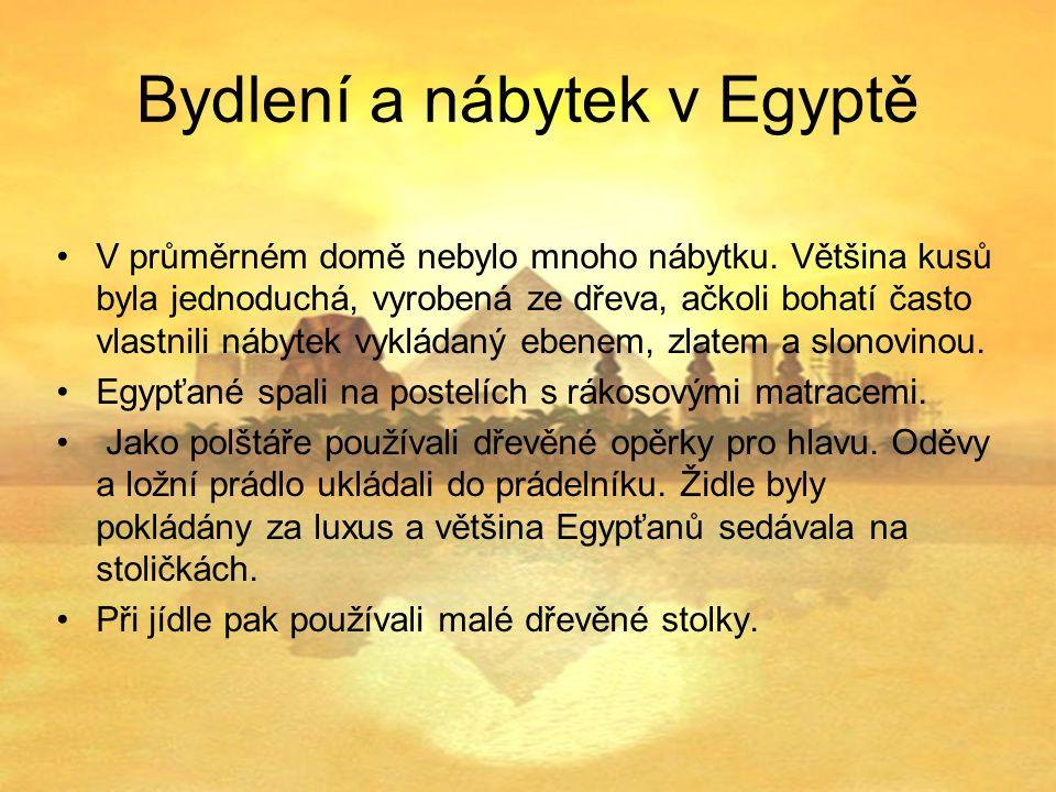 Bydlení a nábytek v Egyptě
