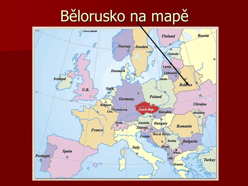 Bělorusko na mapě