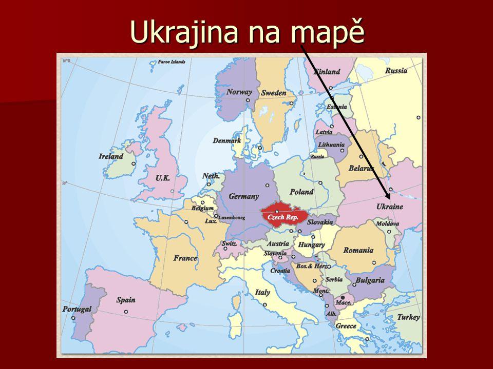 Ukrajina na mapě