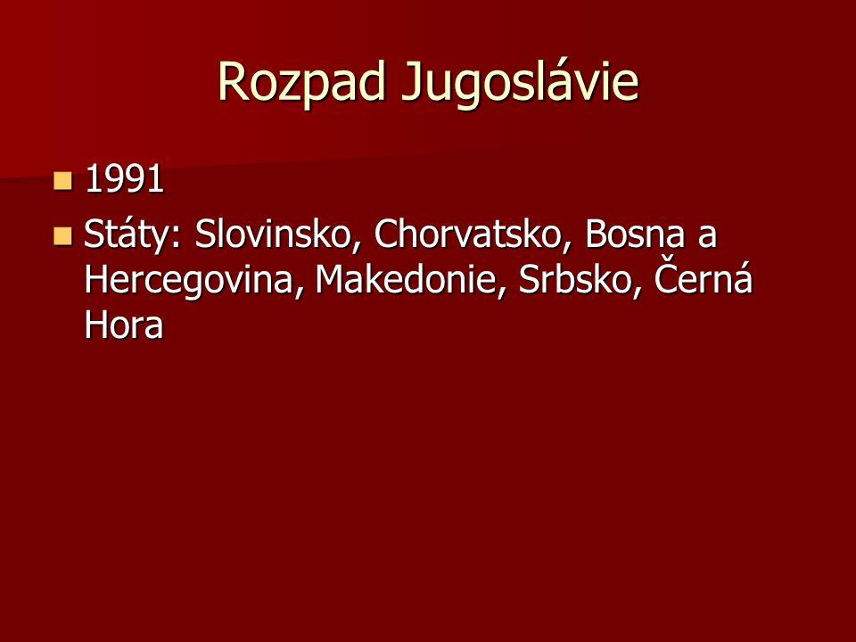 Rozpad Jugoslávie 1991.