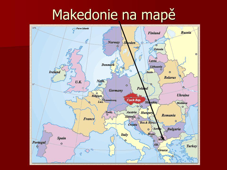 Makedonie na mapě