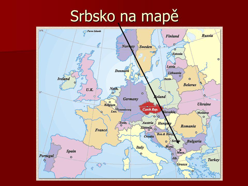 Srbsko na mapě