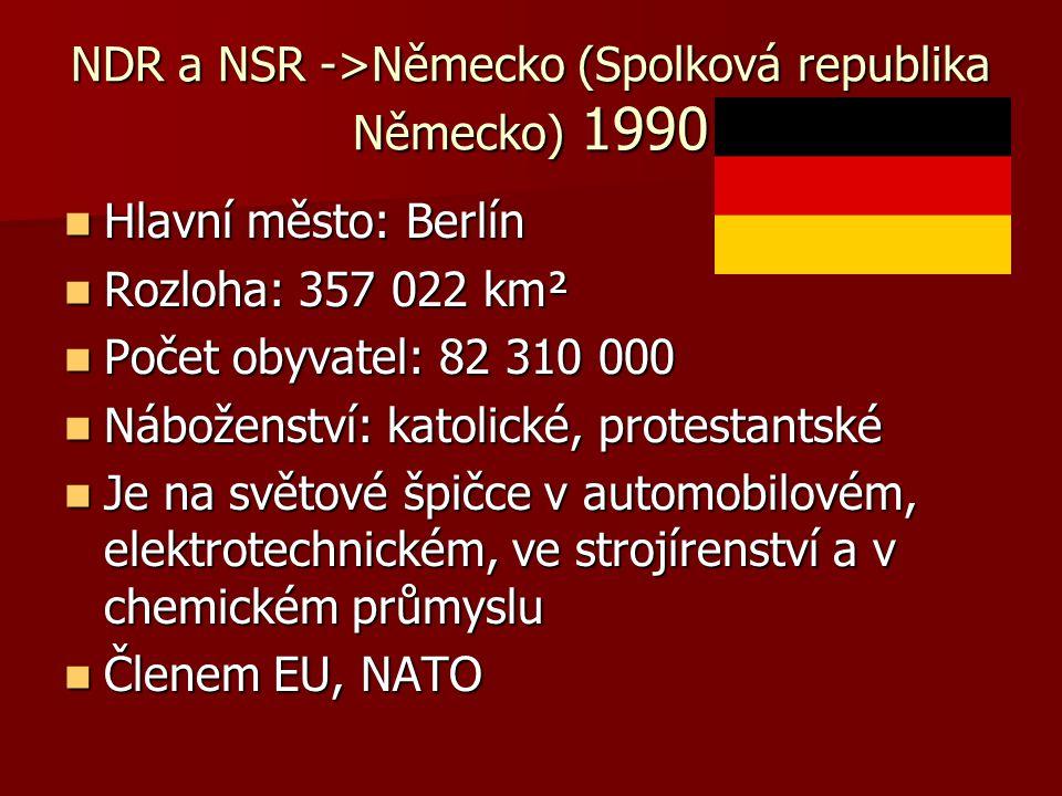 NDR a NSR ->Německo (Spolková republika Německo) 1990