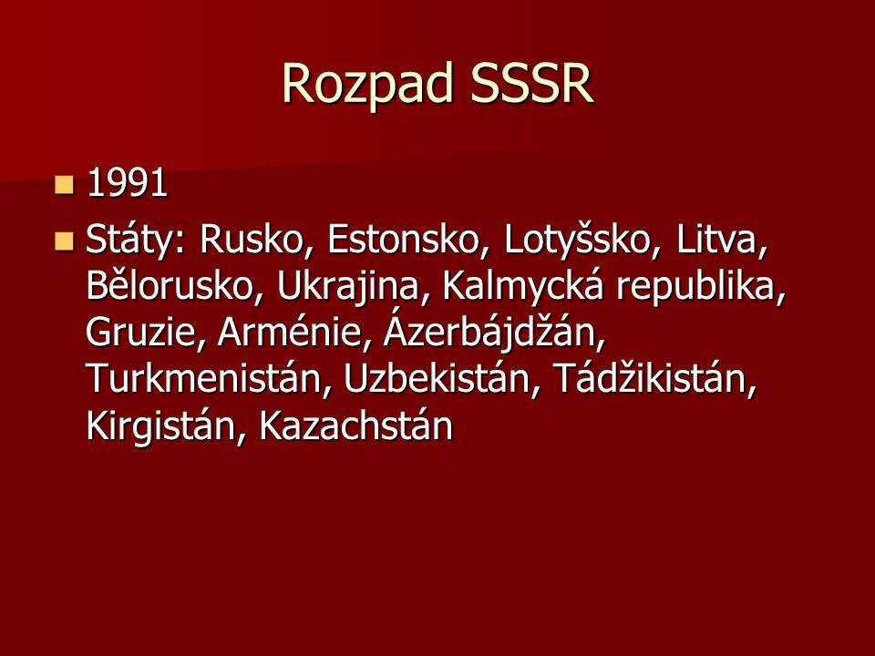 Rozpad SSSR 1991.
