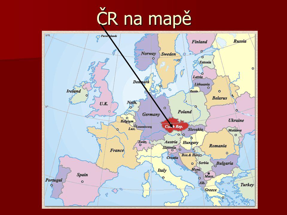 ČR na mapě