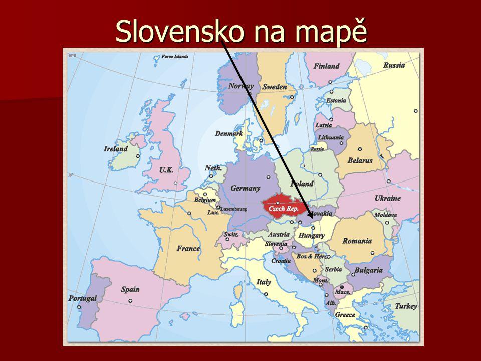 Slovensko na mapě