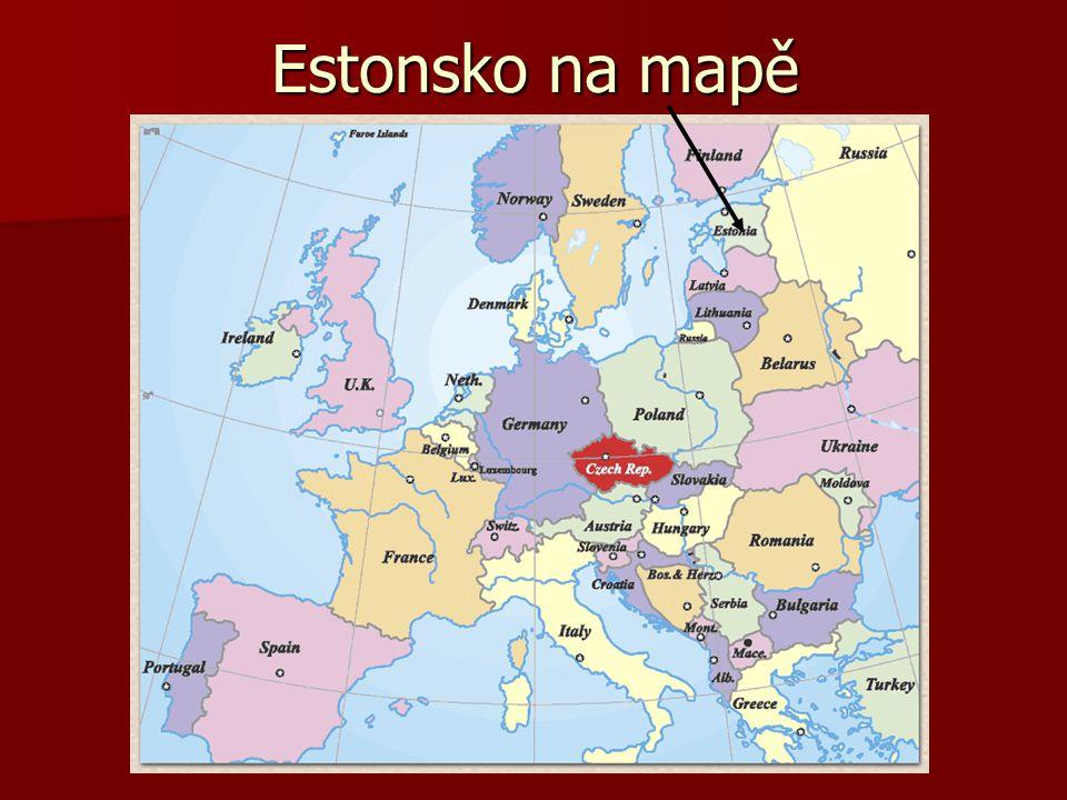 Estonsko na mapě