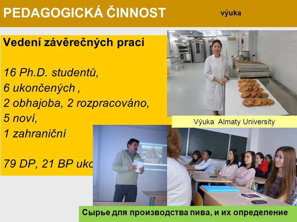 Výuka Almaty University