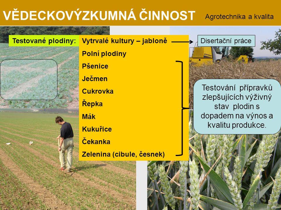 Agrotechnika a kvalita