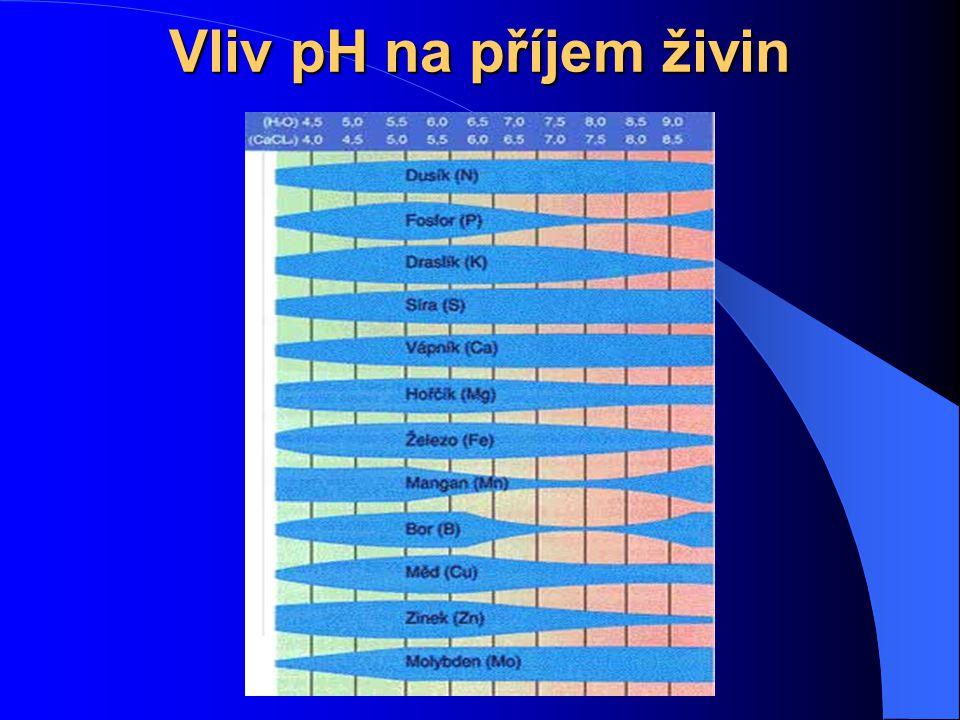Vliv pH na příjem živin