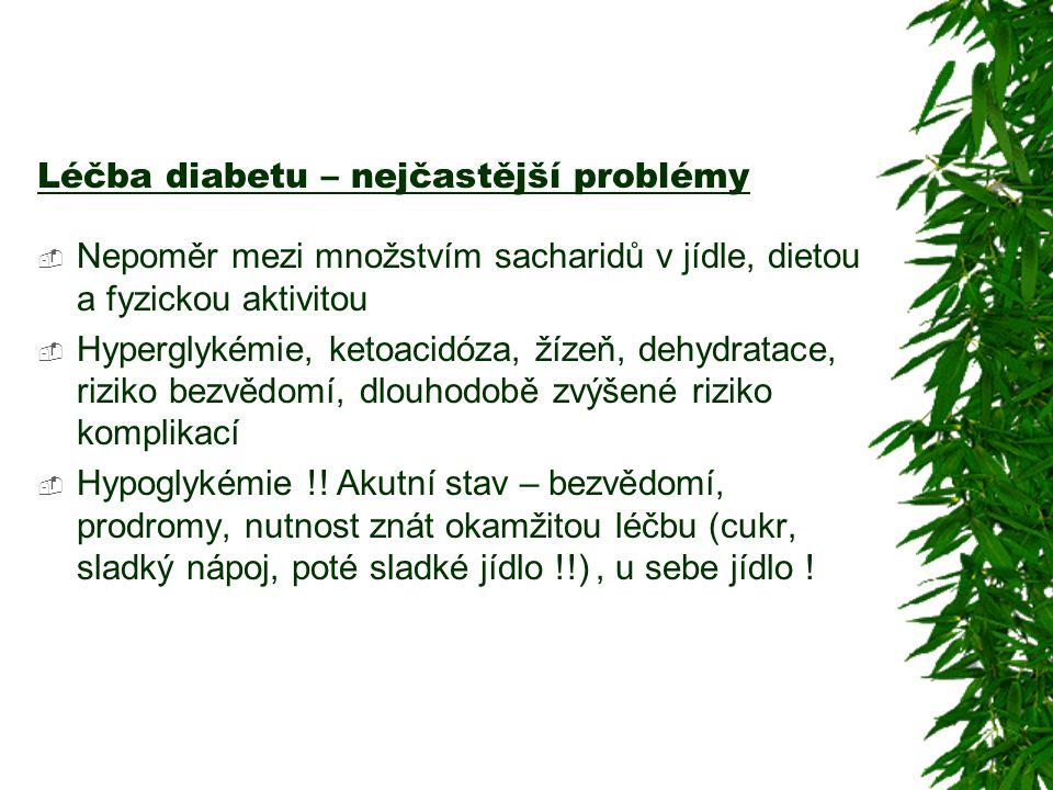 Léčba diabetu – nejčastější problémy