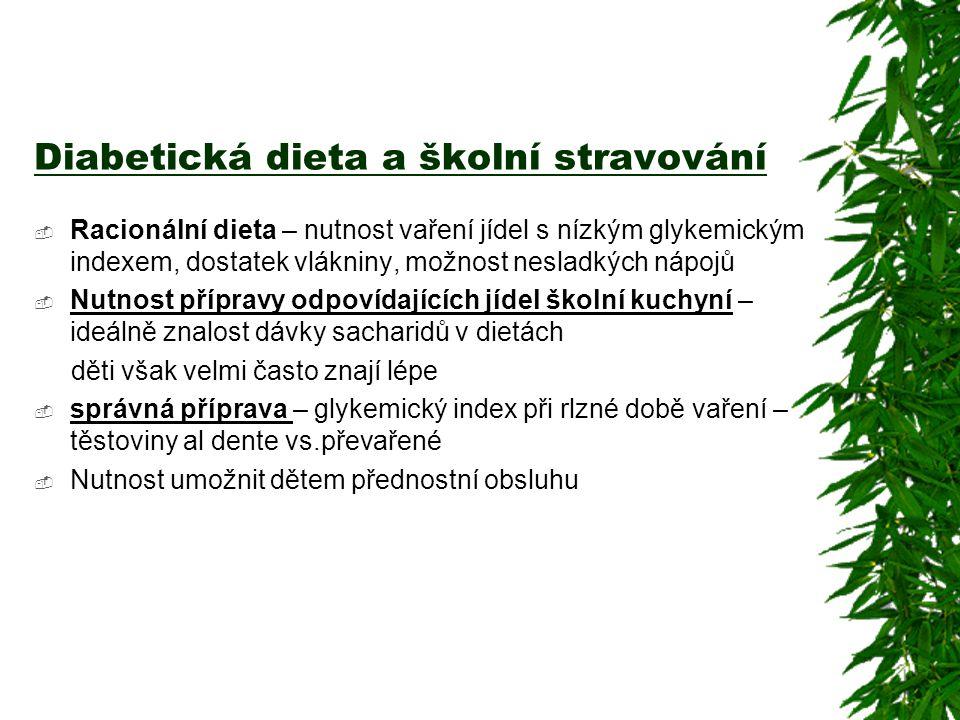 Diabetická dieta a školní stravování