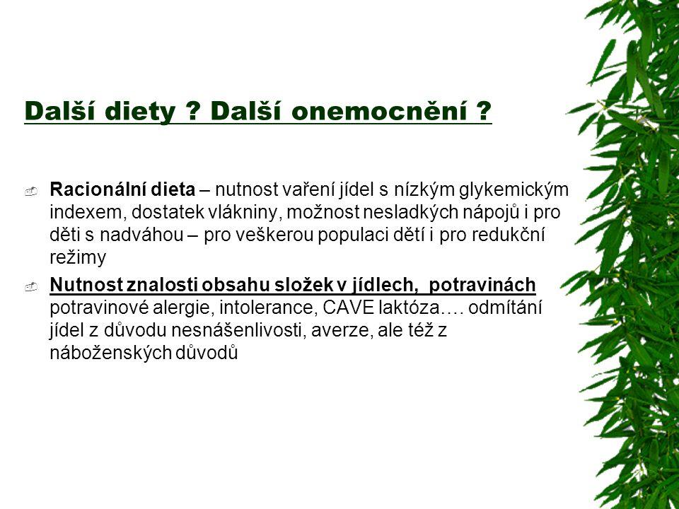 Další diety Další onemocnění