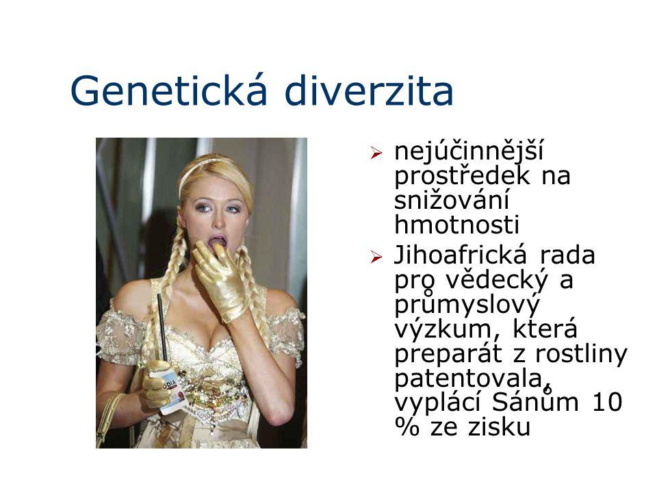 Genetická diverzita nejúčinnější prostředek na snižování hmotnosti