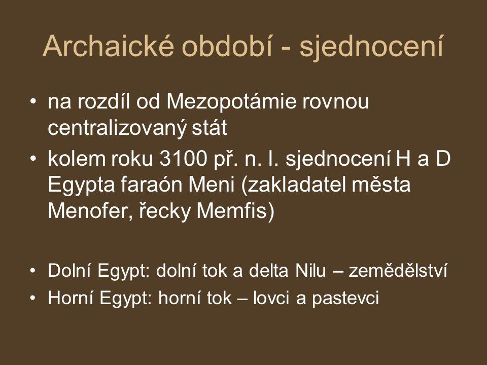 Archaické období - sjednocení
