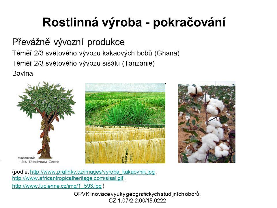 Rostlinná výroba - pokračování