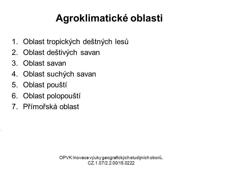 Agroklimatické oblasti