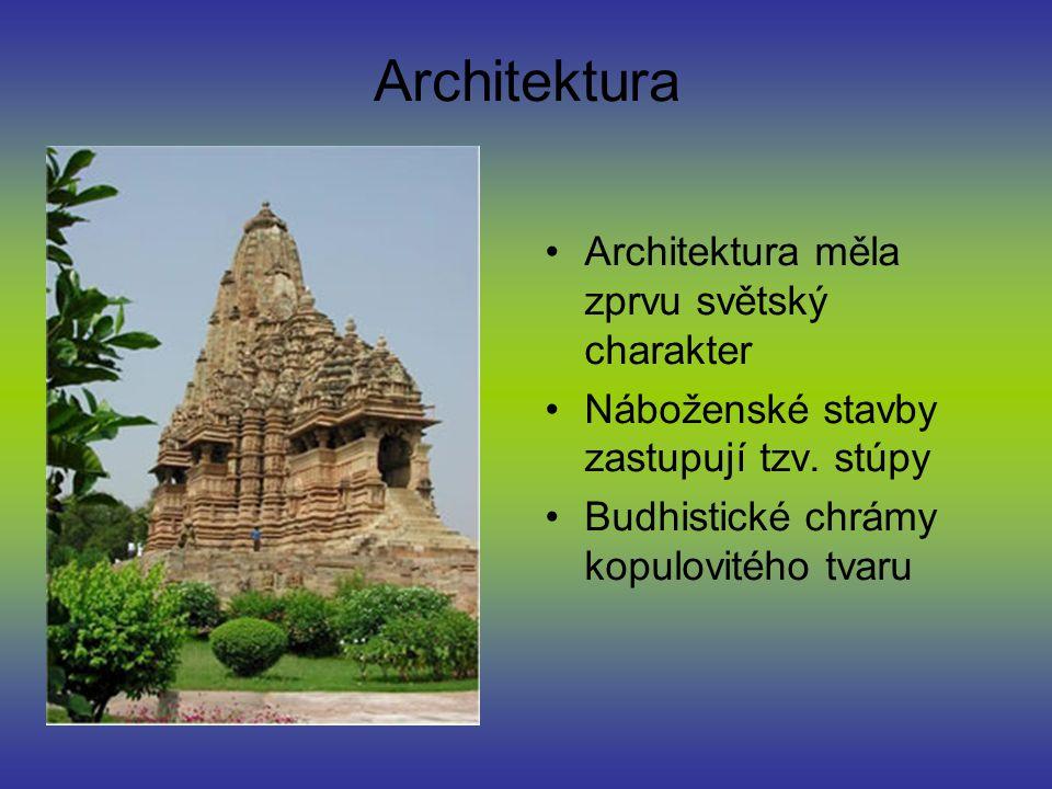 Architektura Architektura měla zprvu světský charakter