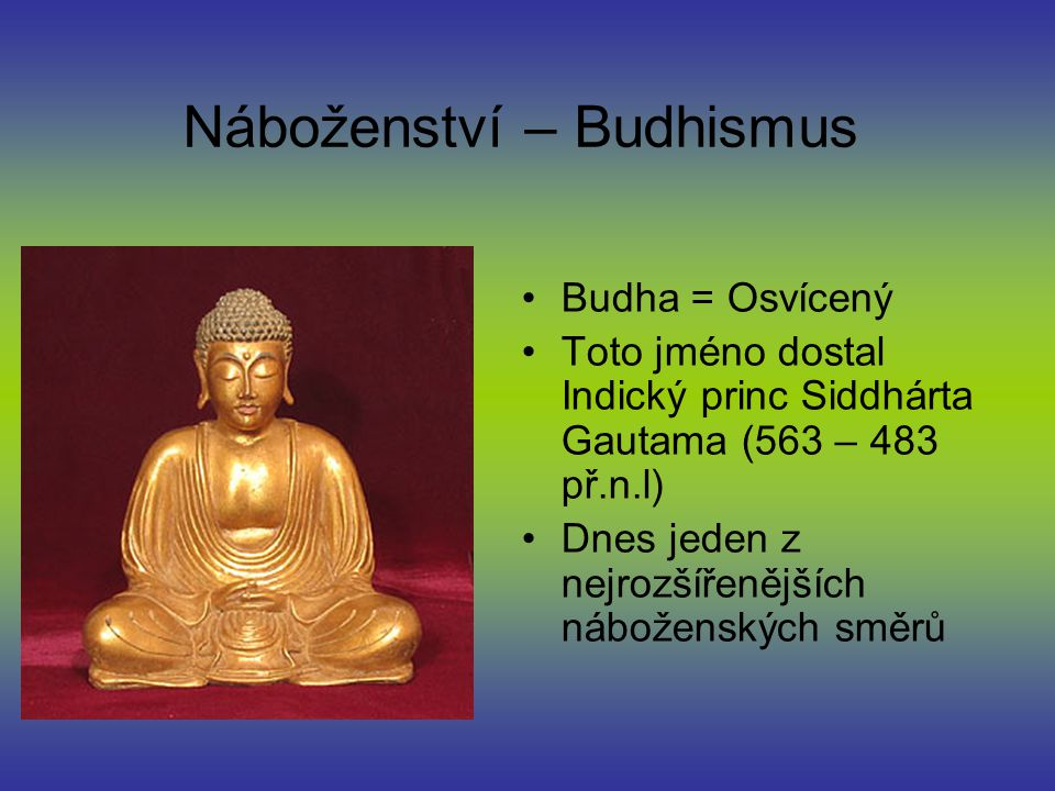 Náboženství – Budhismus