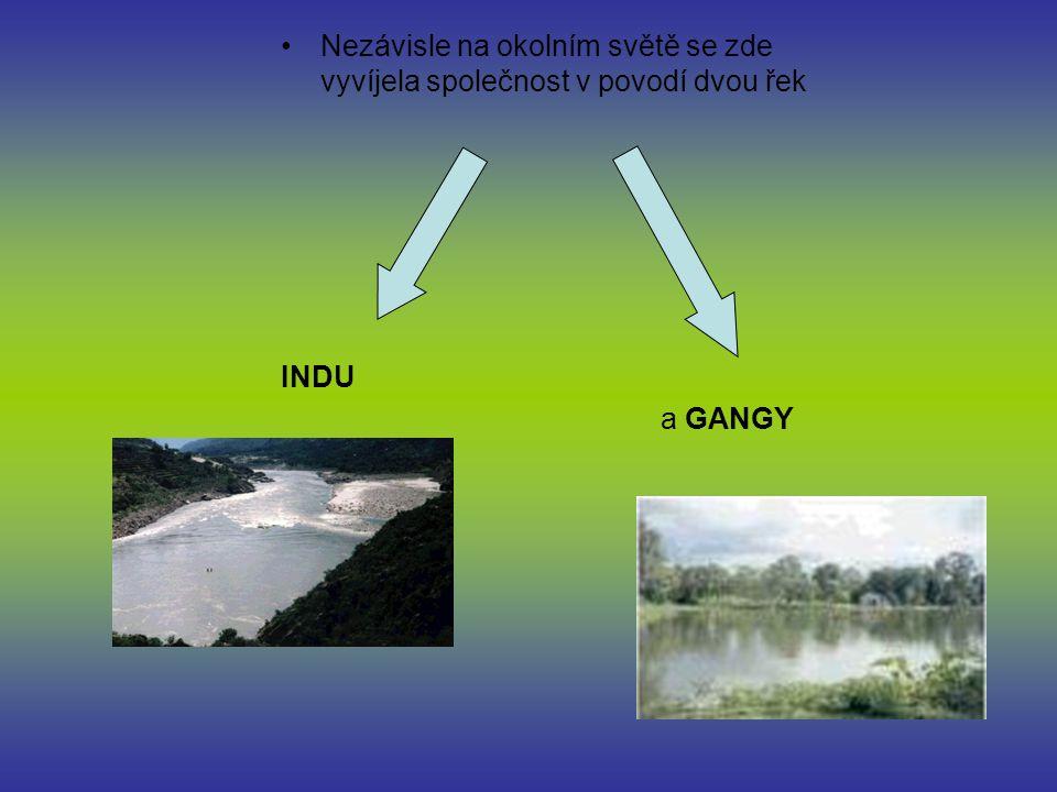 Nezávisle na okolním světě se zde vyvíjela společnost v povodí dvou řek