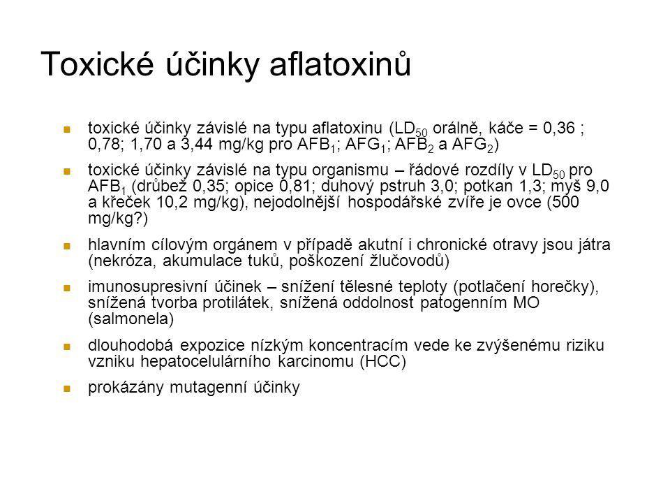Toxické účinky aflatoxinů