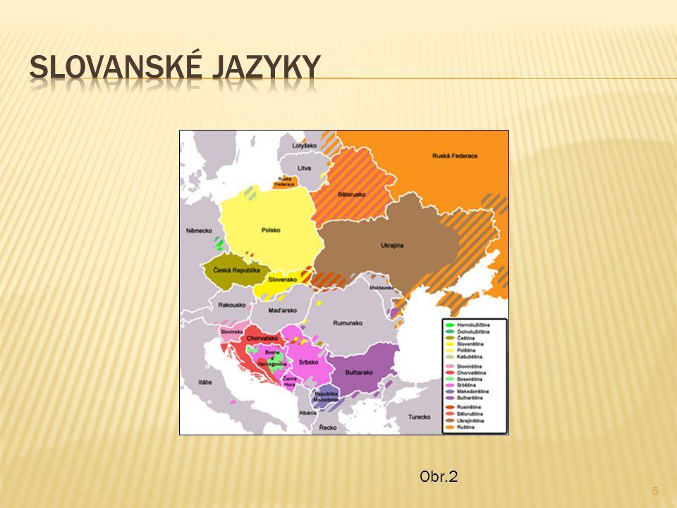 Slovanské jazyky Obr.2