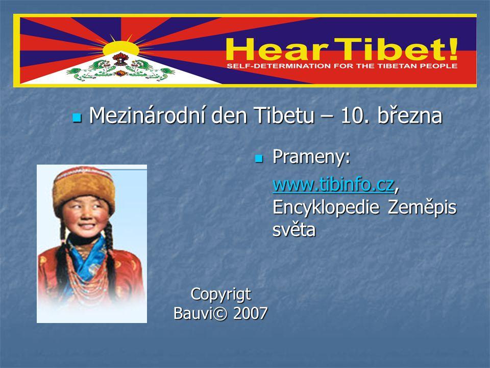 Mezinárodní den Tibetu – 10. března