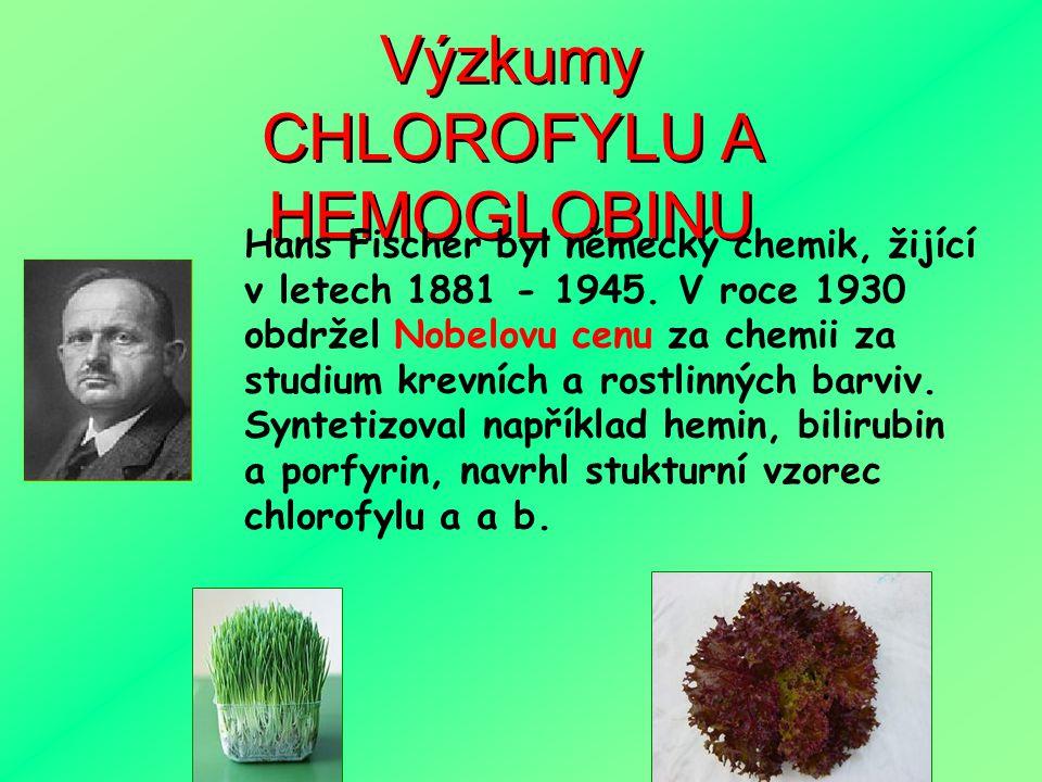CHLOROFYLU A HEMOGLOBINU