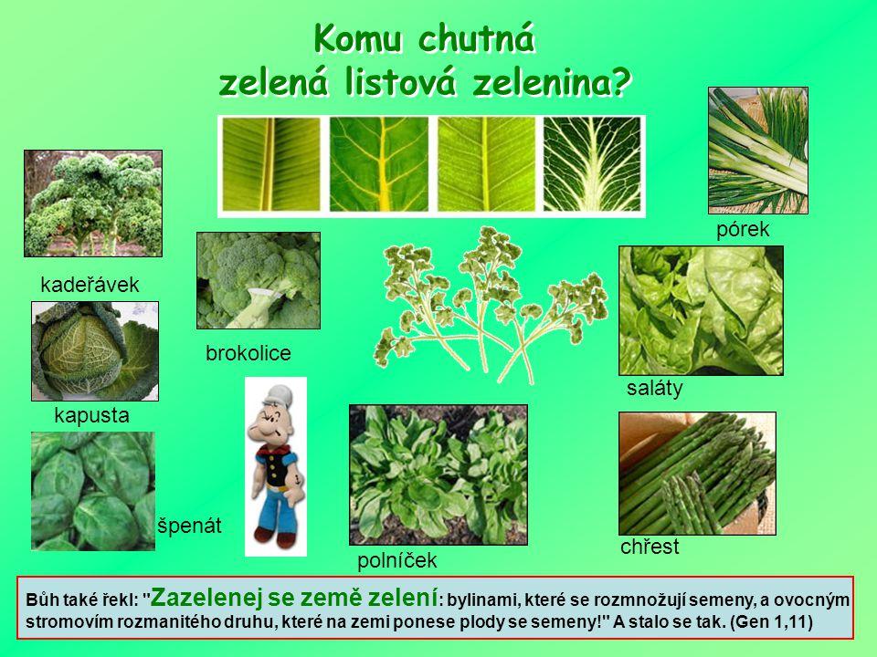Komu chutná zelená listová zelenina