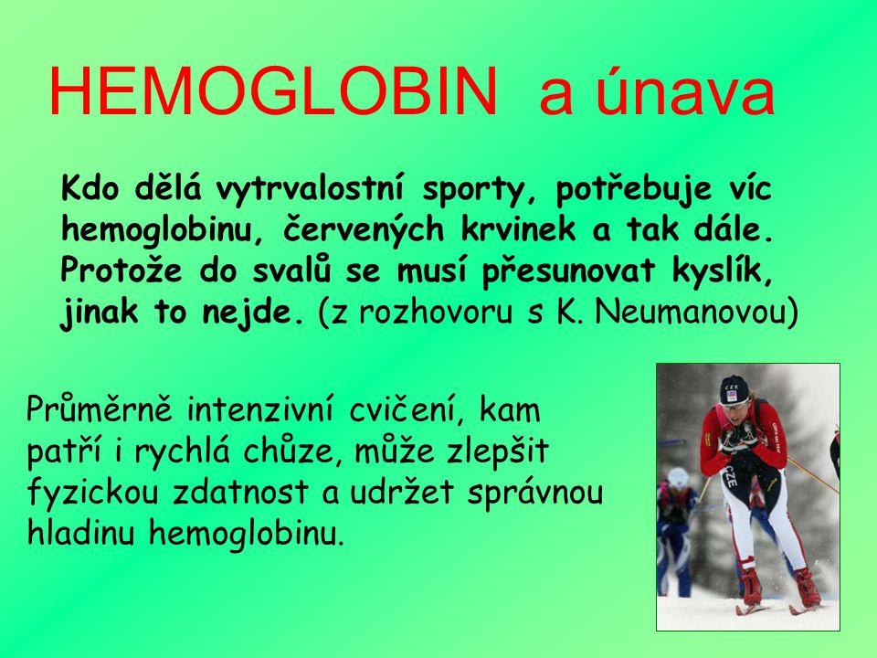 HEMOGLOBIN a únava