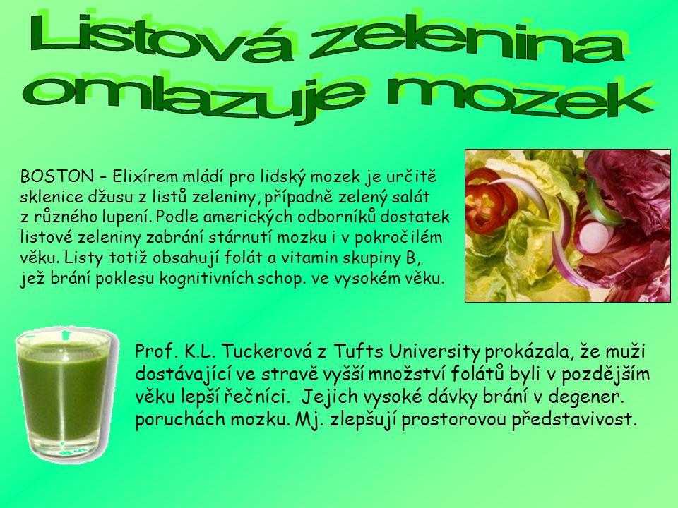 Listová zelenina omlazuje mozek