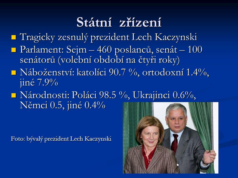 Státní zřízení Tragicky zesnulý prezident Lech Kaczynski