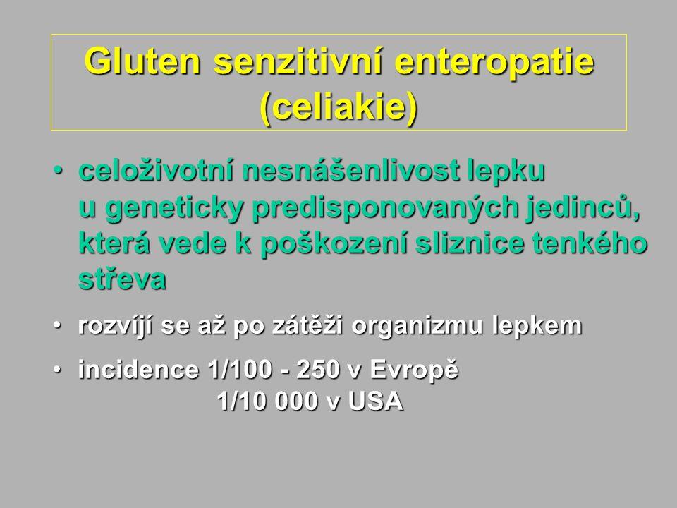 Gluten senzitivní enteropatie (celiakie)