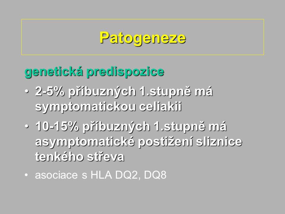 Patogeneze genetická predispozice