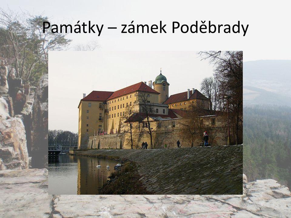 Památky – zámek Poděbrady
