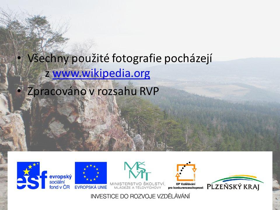 Všechny použité fotografie pocházejí z www.wikipedia.org