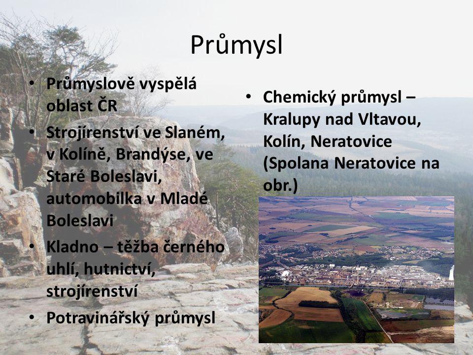 Průmysl Průmyslově vyspělá oblast ČR