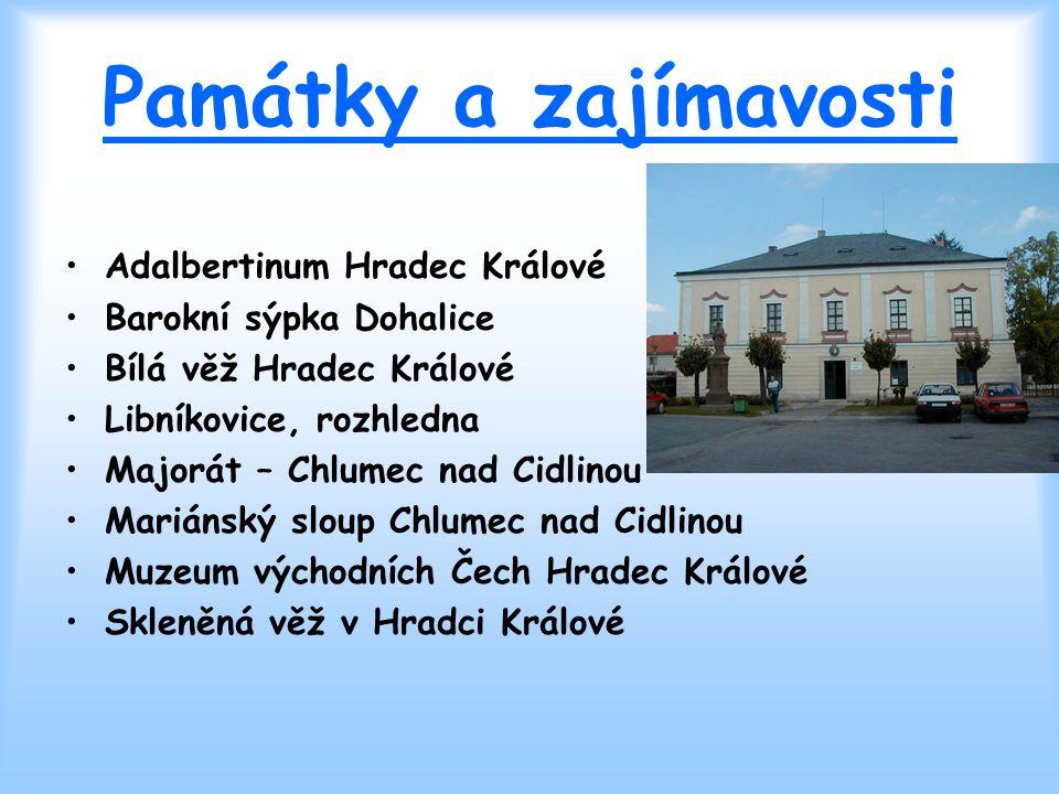 Památky a zajímavosti Adalbertinum Hradec Králové