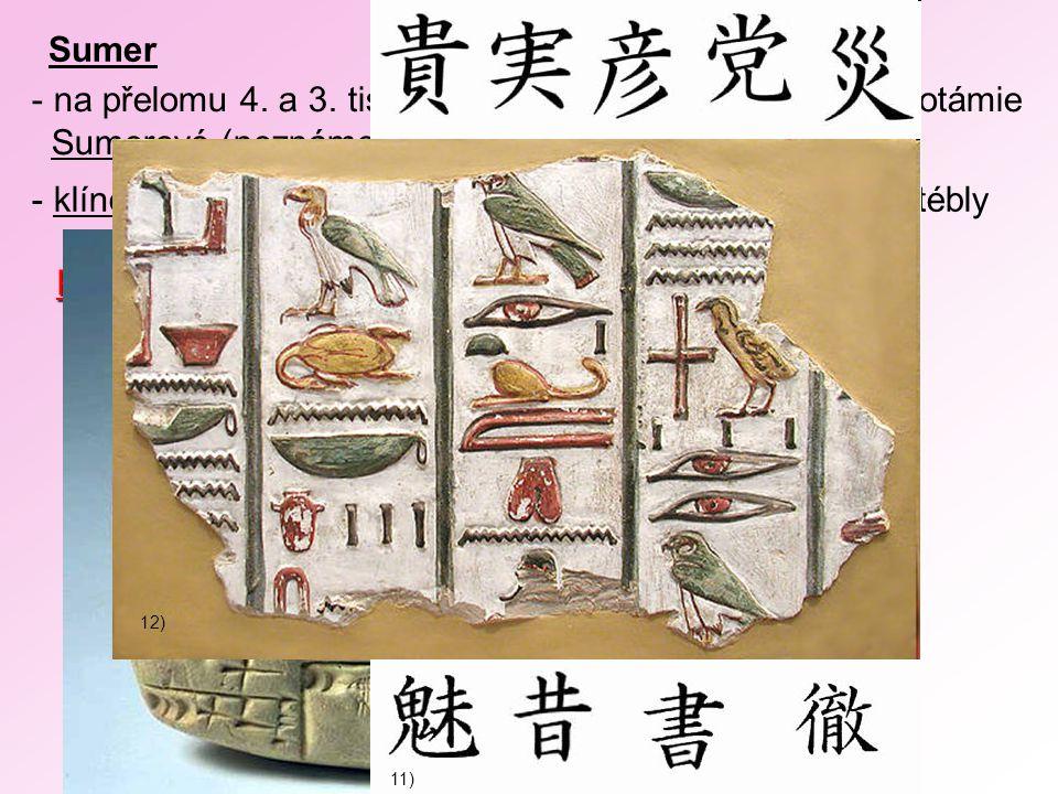 na přelomu 4. a 3. tisíciletí př.n.l. přišli do oblasti Mezopotámie