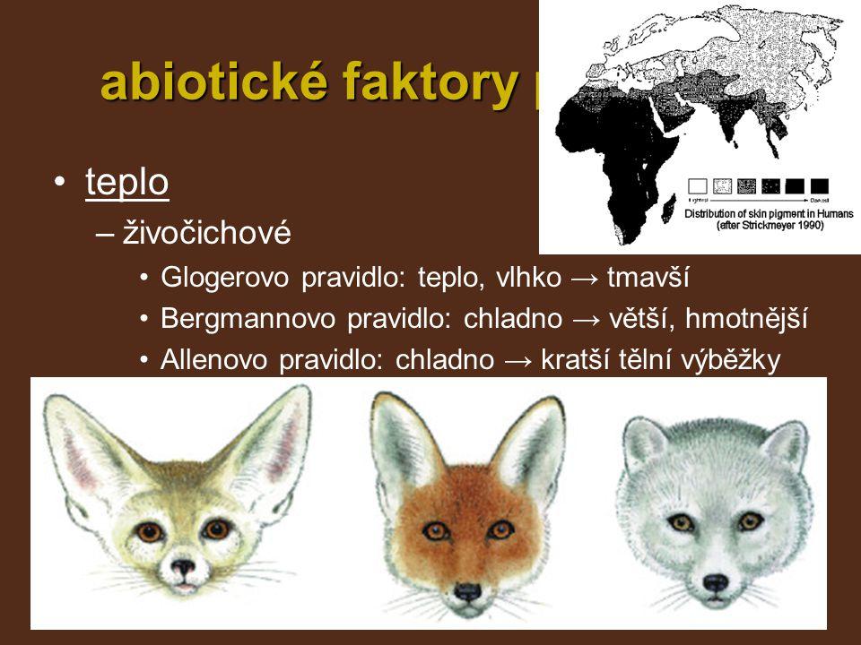 abiotické faktory prostředí